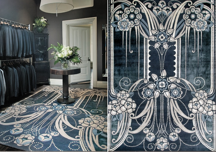 Black Pearl rug by Catherine Martin