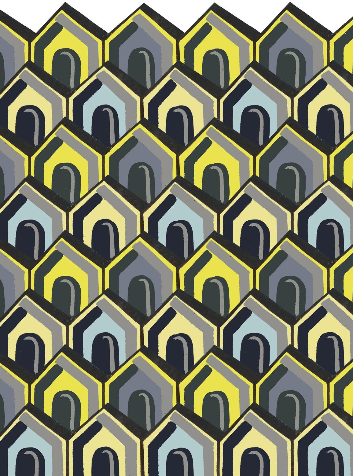 Kangan Arora Circus yellow grey for Floor_Story