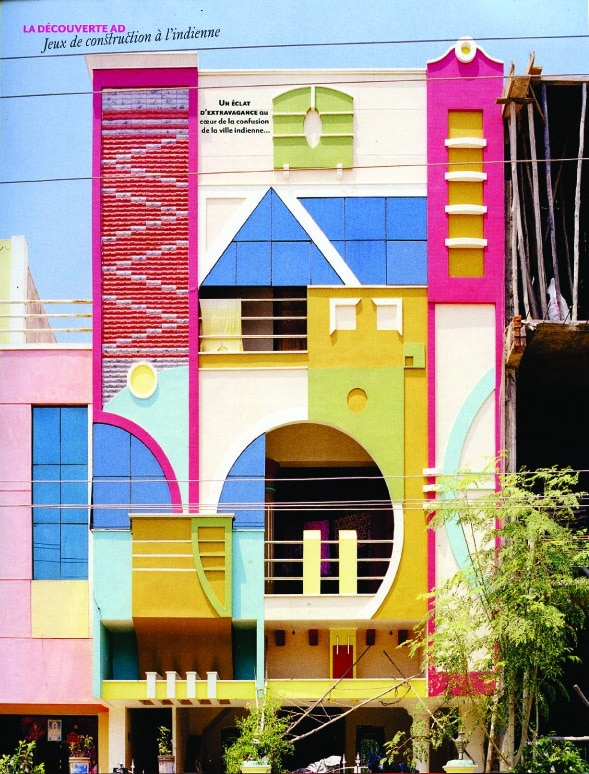 Tirunamavalai post modern Memphis like architecture influenced Sottsass AD French magazine 2013