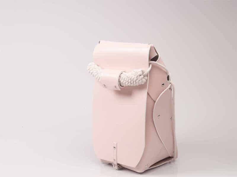 Orowa Assembly pink leather backpack