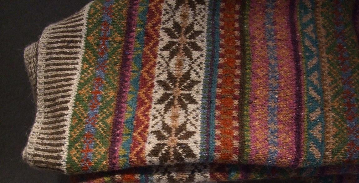 Wool Marie Wallin throw with Rowan yarn