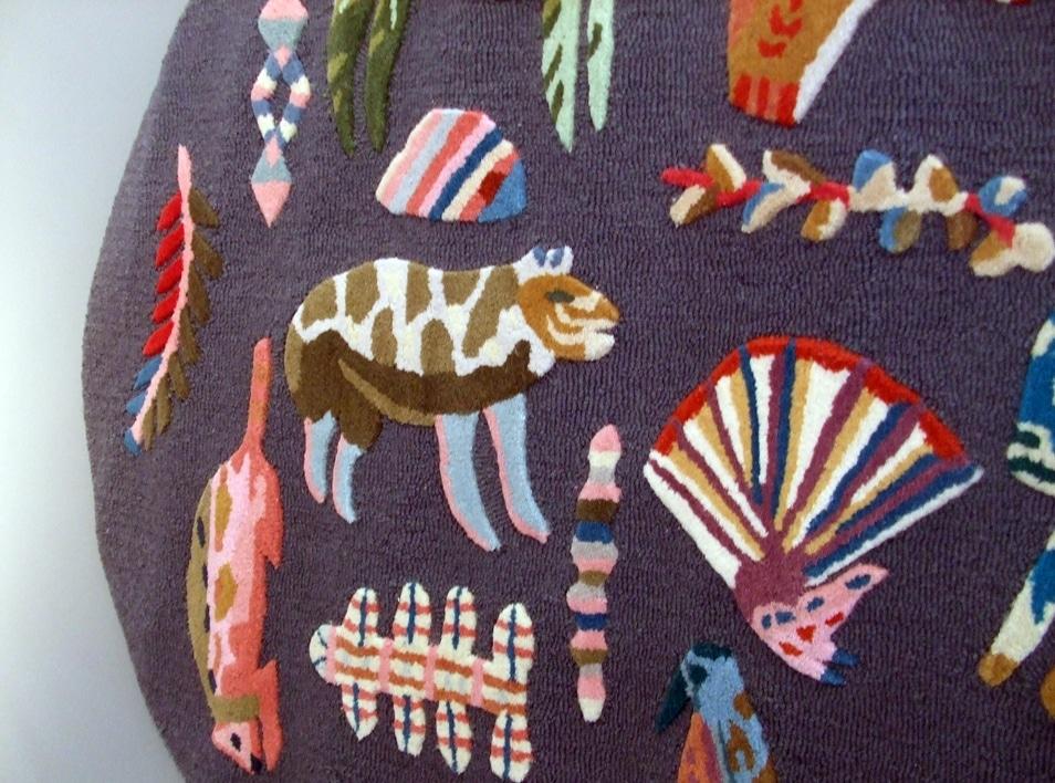 Wool Zoology rug Rose de Borman for Anthropologie