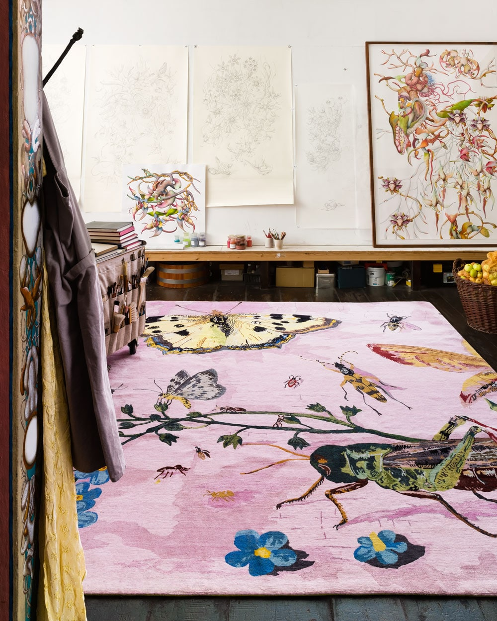 Four rooms defined by rugs